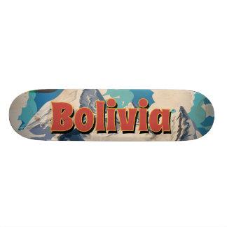Bolivia Vintage Travel Poster Custom Skateboard