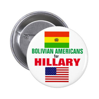 Bolivian Americans for Hillary 2016 6 Cm Round Badge