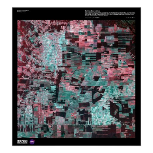 Bolivian Deforestation - Earth as Art Poster
