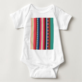 Bolivian pattern baby bodysuit
