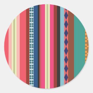 Bolivian pattern classic round sticker