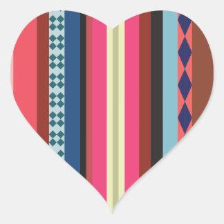 Bolivian pattern heart sticker