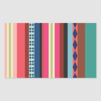 Bolivian pattern rectangular sticker