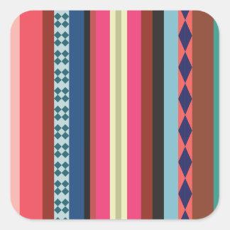 Bolivian pattern square sticker