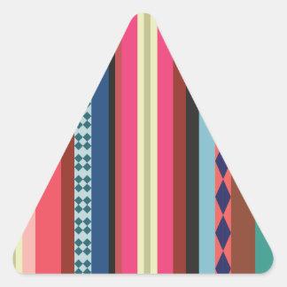Bolivian pattern triangle sticker