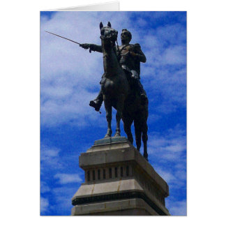 bolivian statue card