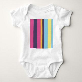 Bolivian stripes baby bodysuit