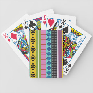 Bolivian stripes bicycle playing cards