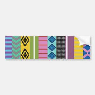 Bolivian stripes bumper sticker