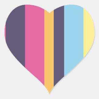 Bolivian stripes heart sticker