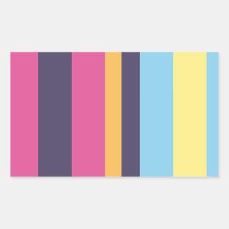 Bolivian stripes rectangular sticker