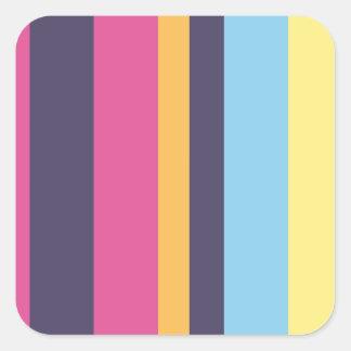Bolivian stripes square sticker