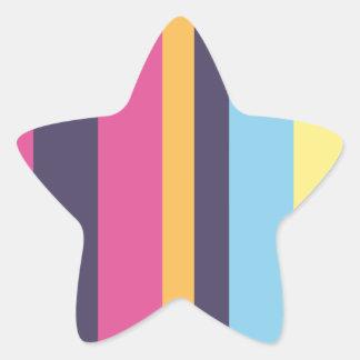 Bolivian stripes star sticker
