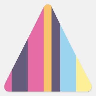Bolivian stripes triangle sticker