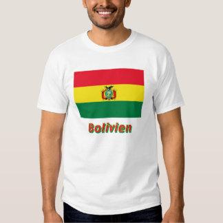 Bolivien Flagge mit Namen Tee Shirts