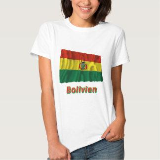 Bolivien Fliegende Flagge mit Namen T Shirt