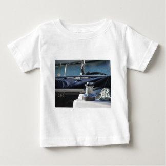 Bollard and mooring ropes on sailing boat bow baby T-Shirt