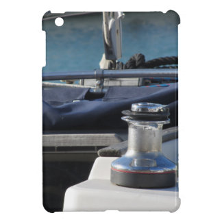 Bollard and mooring ropes on sailing boat bow iPad mini case