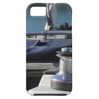 Bollard and mooring ropes on sailing boat bow iPhone 5 case