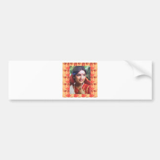 Bollywood diva actress Indian beauty cinema girls Bumper Sticker