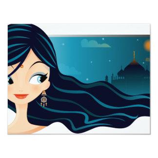 Bollywood Girl 11 Cm X 14 Cm Invitation Card
