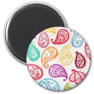 Bollywood Indian Paisley Trendy Rainbow Magnet