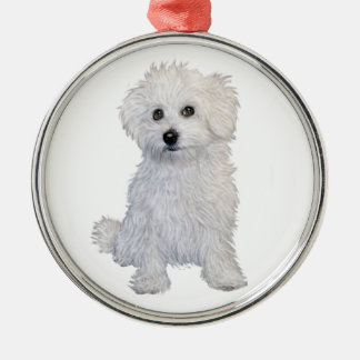 Bolognese Puppy Metal Ornament