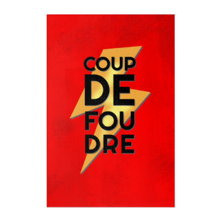Bolt of Lightning - Coup de Foudre French Retro Acrylic Wall Art