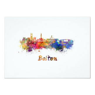 Bolton skyline in watercolor card