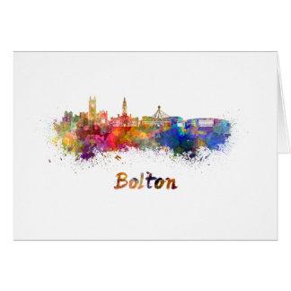 Bolton skyline in watercolor card