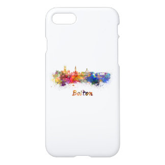 Bolton skyline in watercolor iPhone 8/7 case