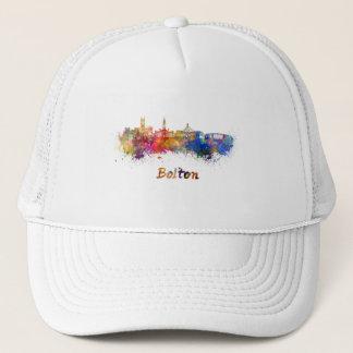 Bolton skyline in watercolor trucker hat