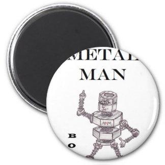 Bolts - Heavy Metal Man 6 Cm Round Magnet