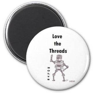 Bolts - Love the Threads 6 Cm Round Magnet