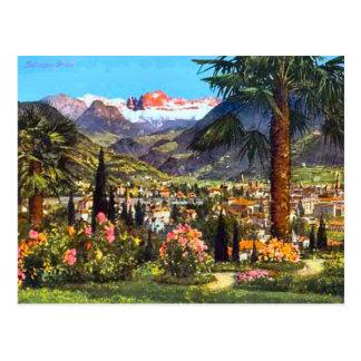 Bolzano, Italy, and the nearby Alps Postcard