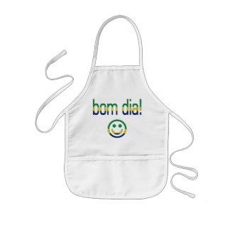 Bom Dia! Brazil Flag Colors Kids' Apron
