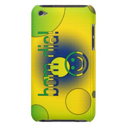 Bom Dia! Brazil Flag Colors Pop Art iPod Case-Mate Cases