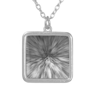 bomb #4 silver plated necklace