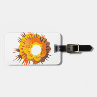Bomb Explosion Retro Luggage Tag