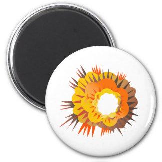 Bomb Explosion Retro Magnet