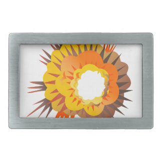 Bomb Explosion Retro Rectangular Belt Buckle