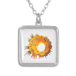 Bomb Explosion Retro Silver Plated Necklace