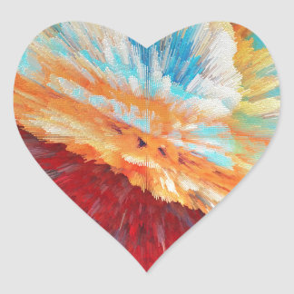 bomb heart sticker