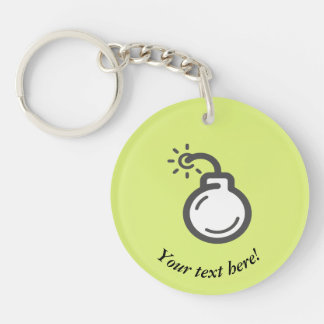 Bomb Icon Key Ring