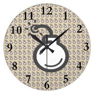 Bomb Icon Large Clock