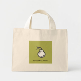 Bomb Icon Mini Tote Bag