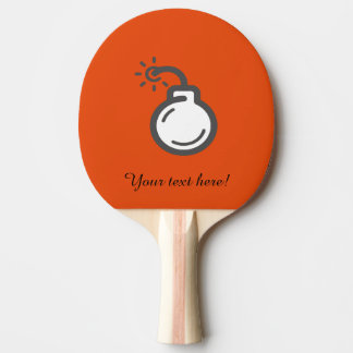 Bomb Icon Ping Pong Paddle