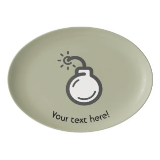 Bomb Icon Porcelain Serving Platter