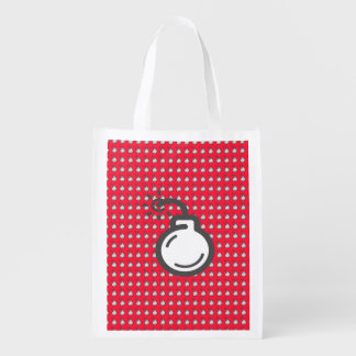 Bomb Icon Reusable Grocery Bag