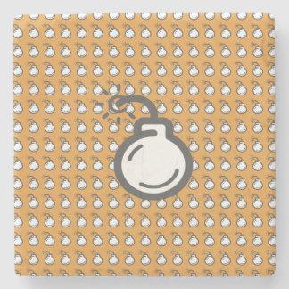Bomb Icon Stone Coaster